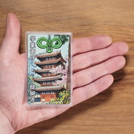 École (25) * Omamori béni par les moines, Kyoto * Pour portefeuille