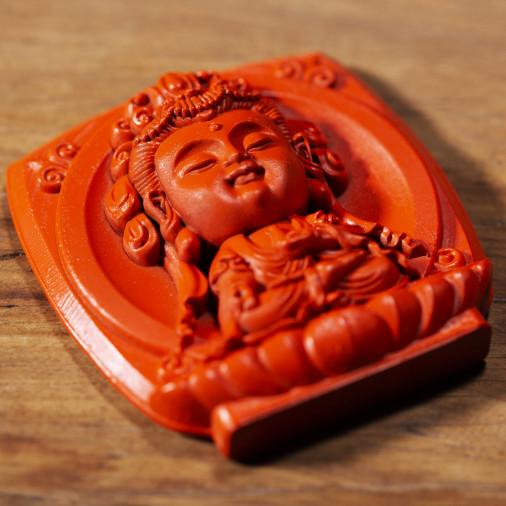 Santé (3b) * Omamori béni par les moines, Kyoto * Avec divinité