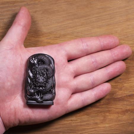 Argent (2a) * Omamori béni par les moines, Kyoto * Avec divinité
