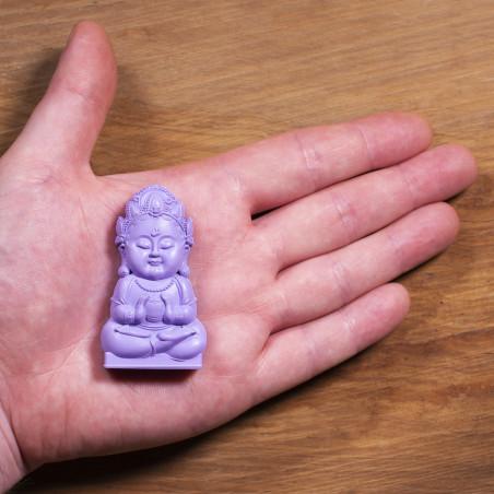 Argent (5a) * Omamori béni par les moines, Kyoto * Avec divinité