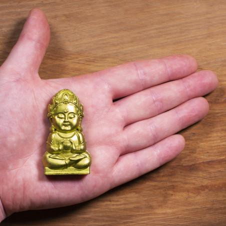 Argent (5b) * Omamori béni par les moines, Kyoto * Avec divinité