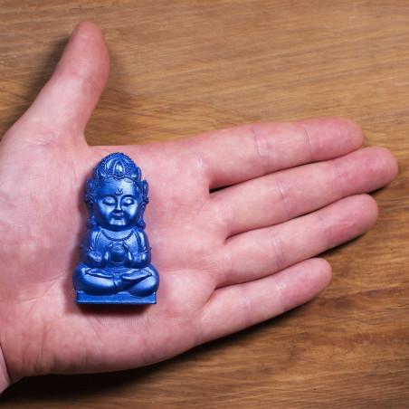 Dinero (5c) * Omamori bendecido por monjes, Kyoto * Con deidad
