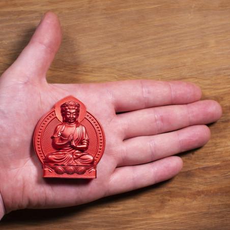 Argent (6a) * Omamori béni par les moines, Kyoto * Avec divinité
