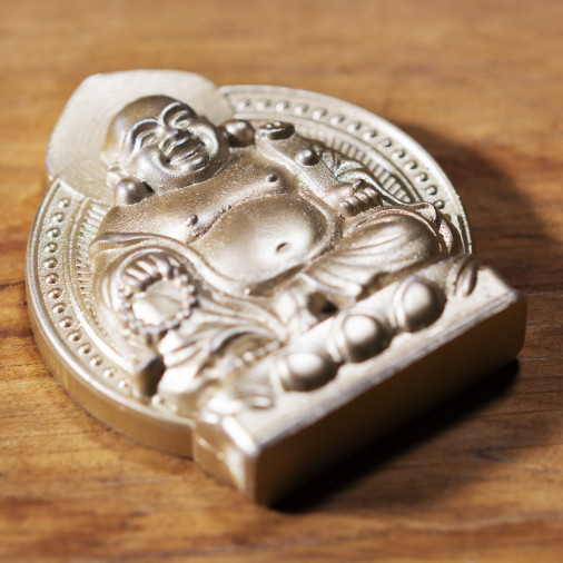 Soldi (7a) * Omamori benedetto da monaci, Kyoto * Con divinità