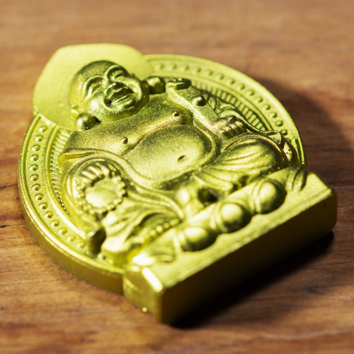Dinero (7d) * Omamori bendecido por monjes, Kyoto * Con deidad