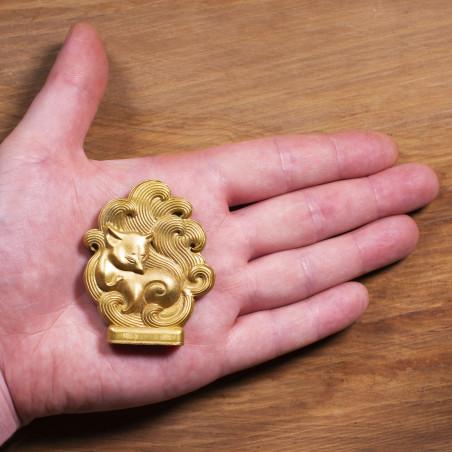 Dinero (9a) * Omamori bendecido por monjes, Kyoto * Con deidad