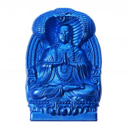 Dinero (10d) * Omamori bendecido por monjes, Kyoto * Con deidad