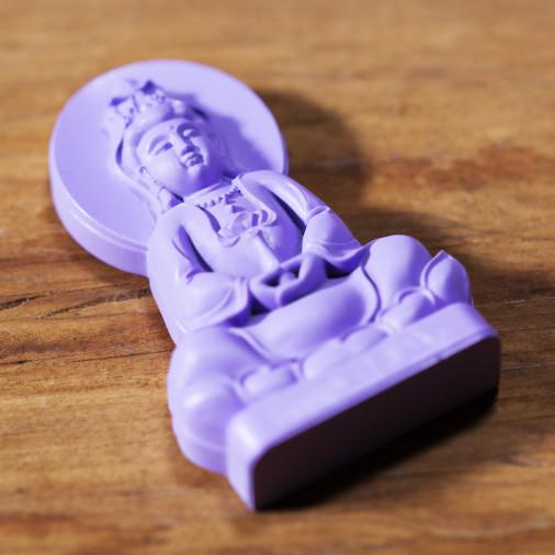 Deseo (3c) * Omamori bendecido por monjes, Kyoto * Con deidad